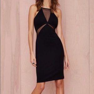 Nasty Gal Mesh Cut Out Little Black Dress